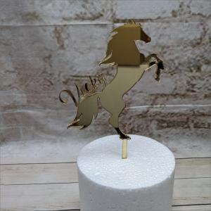 Cake Topper Pferd Mustang mit Name Backzubehör backen Tortendekorieren Fondantfiguren Caketopper Lebensmittelfarben Hochzeitstorten Geburtstagstorten modellierte Figuren aus Fondant suhl