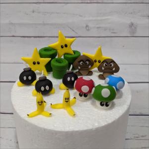 Super-Mario-modellierte-Figuren-Fondant-Ilmenau-Torten-Kindergeburtstag-Tortendekor-Zuckerfigur-essbare-Figur-Torten-Tuning-Suhl-Meiningen-Coburg-Hildburghausen