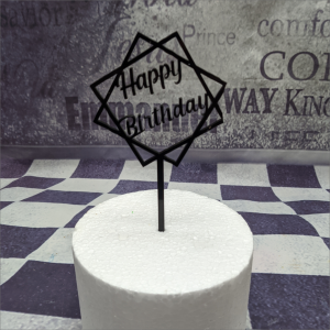 Cake Topper Happy Birthday Torten-Tuning-Cake-Topper-Happy-Birthday-im-Rahmen-Acryl-Schleusingen-Hildburghausen