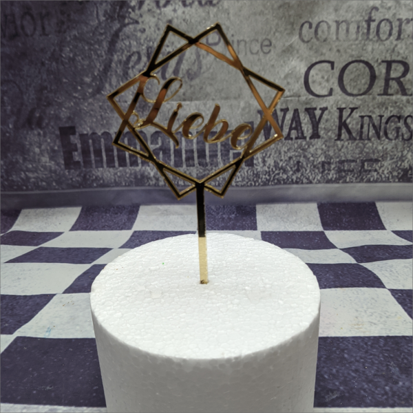 Torten-Tuning-Cake-Topper-Liebe-im-Rahmen-Gold-Acryl-Erfurt-Hildburghausen