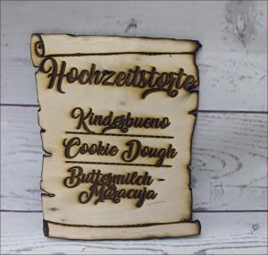 Cake Topper Hochzeitstorten-Schild Torten-Tuning-Cake-Topper_Holztafel-mit-gravur_Erlau_ErfurtJHvWUnh25pHSL