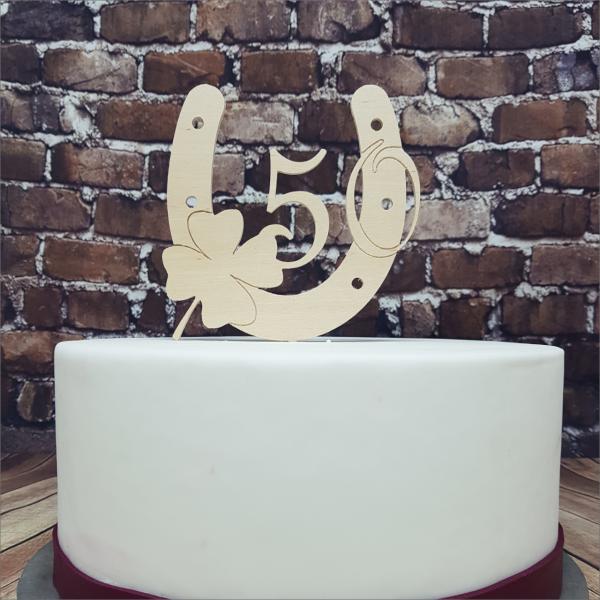 Torten-Tuning-Cake-Topper_Hufeisen_-mit-Kleeblatt-und-Zahl_Arnstadt_Hildburghausen