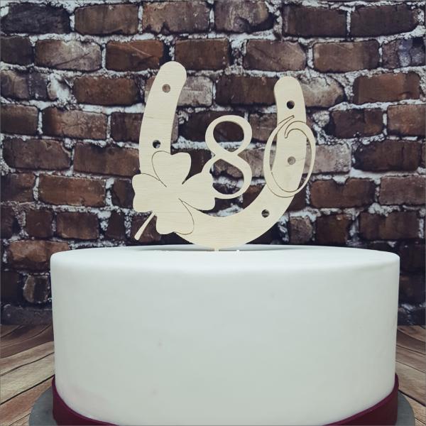 Torten-Tuning-Cake-Topper_Hufeisen_-mit-Kleeblatt-und-Zahl_Erlau_Hildburghausen