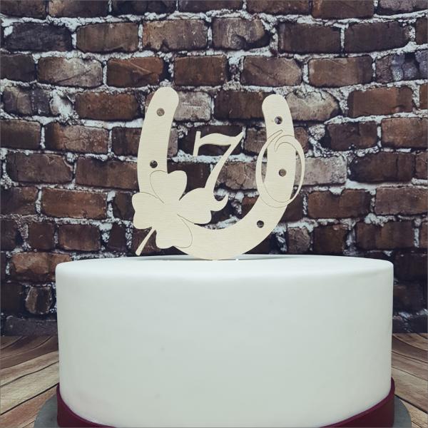 Torten-Tuning-Cake-Topper_Hufeisen_-mit-Kleeblatt-und-Zahl_Meiningen_Hildburghausen
