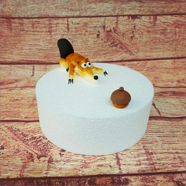 Tortendekoration Ice Age Scrat Backzubehör backen Tortendekorieren Fondantfiguren Caketopper Lebensmittelfarben Hochzeitstorten Geburtstagstorten modellierte Figuren aus Fondant suhl