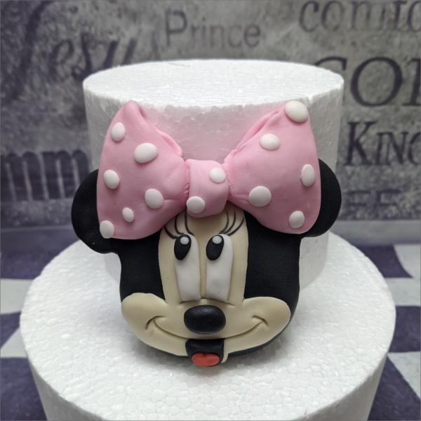 Tortendekoration Minie Mouse Kopf Torten-Tuning-essbare-Figuren-aus-Fondant-Mini-Maus-Schleusingen-Hildburghausen