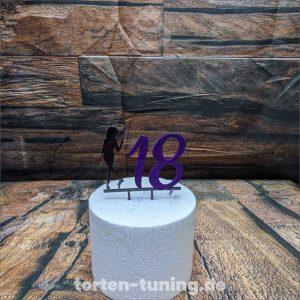 Cake Topper Mädchen 18 18. Geburtstag Acryl Cake Topper Tortendekoration Tortenaufsteller Happy Birthday Aufstecker Torte Schriftzug online bestellen Torten Tuning Backzubehorshop