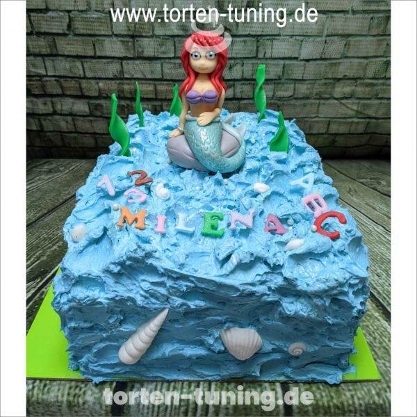 Arielle Meerjungfrau Torten Tuning Tortendekoration Geburtstagstorten Suhl Thüringen Backzubehörshop online bestellen Schuleinführungstorte modellierte Figur