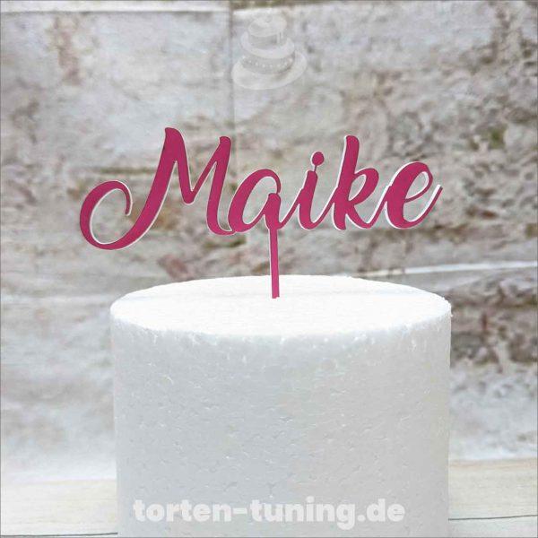 Cake-Topper-Pink-individuelle-Namen-Schriftzug-Aufstecker-Torten-Tuning-Thüringen-Hochzeitstorten