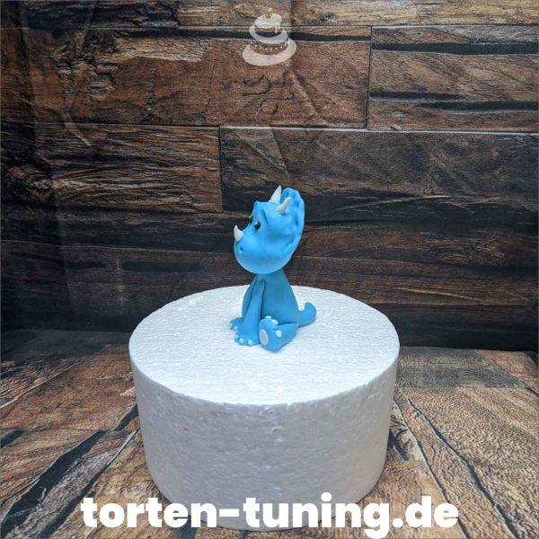 Dino TortenfigurenDino blau modellierte Figur Fondantfigur Tortenfigur Torte Torten Tuning Geburtstagstorte Suhl Hochzeitstorte Kindertorten Babytorten Fondant online