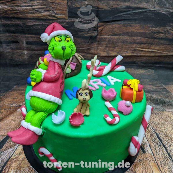 Tortenekoration Grinch Grinch Grinch modellierte Figur Fondantfigur Tortenfigur Torte Torten Tuning Geburtstagstorte Suhl Hochzeitstorte Kindertorten Babytorten Fondant online