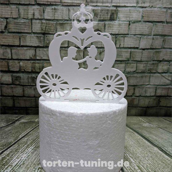 Cake Topper Cindarella Kutsche 1. Geburtstag Torte Torten Tuning Tortendekoration Geburtstagstorten Suhl Thüringen Backzubehörshop online bestellen Backkurse modellierte Figuren Kindergeburtsta