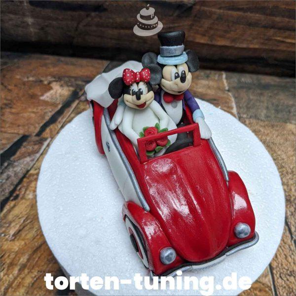 VW Käfer Micky Minnie Tortenfigur Micky Minnie Maus im Käfer modellierte Figur Fondantfigur Tortenfigur Torte Torten Tuning Geburtstagstorte Suhl Hochzeitstorte Kindertorten Babytorten Fondant online5