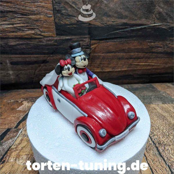 VW Käfer Micky&Minnie Tortenfigur Micky Minnie Maus im Käfer modellierte Figur Fondantfigur Tortenfigur Torte Torten Tuning Geburtstagstorte Suhl Hochzeitstorte Kindertorten Babytorten Fondant online4