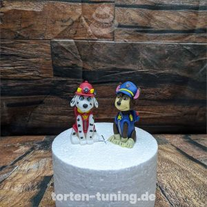 Paw Patrol Chase Marshall Rubbel Paw Patrol Chase modellierte Figur Fondantfigur Tortenfigur Torte Torten Tuning Geburtstagstorte Suhl Hochzeitstorte Kindertorten Babytorten Fondant online
