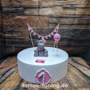 Tortenfiguren baby nilpferd modellierte Figur Fondantfigur Tortenfigur Torte Torten Tuning Geburtstagstorte Suhl Hochzeitstorte Kindertorten Babytorten Fondant online