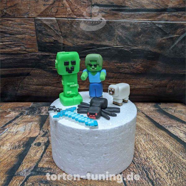Minecraft Set minecraft set spinne modellierte Figur Fondantfigur Tortenfigur Torte Torten Tuning Geburtstagstorte Suhl Hochzeitstorte Kindertorten Babytorten Fondant online