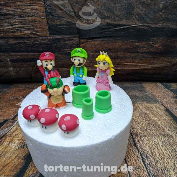 Tortendekoration Super Mario Set super mario modellierte Figur Fondantfigur Tortenfigur Torte Torten Tuning Geburtstagstorte Suhl Hochzeitstorte Kindertorten Babytorten Fondant