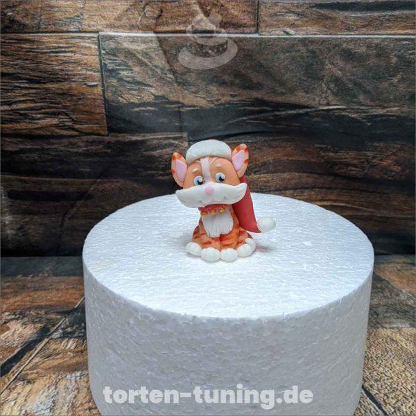 Weihnachtskatze weihnachten katze modellierte Figur Fondantfigur Tortenfigur Torte Torten Tuning Geburtstagstorte Suhl Hochzeitstorte Kindertorten Babytorten Fondant online