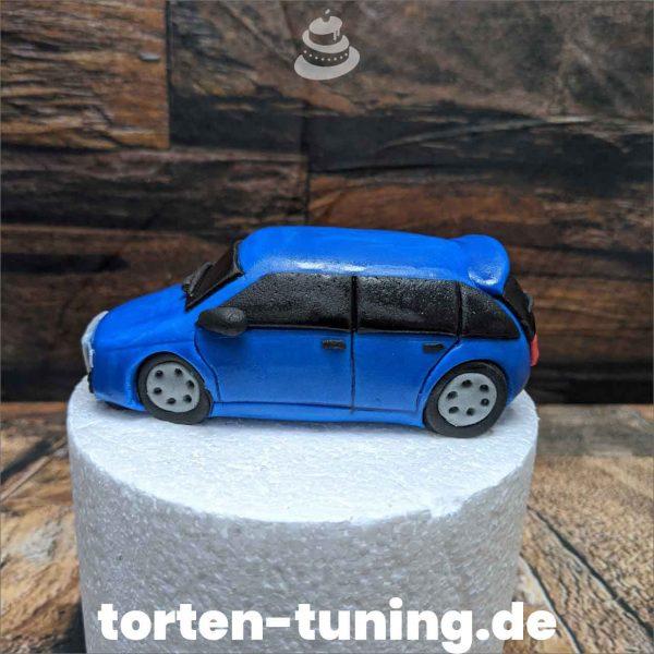 Audi blau modellierte Figur Fondantfigur Tortenfigur Torte Torten Tuning Geburtstagstorte Suhl Hochzeitstorte Kindertorten Babytorten Fondant online