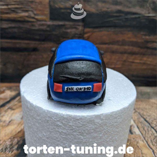 Blauer Audi modellierte Figur Fondantfigur Tortenfigur Torte Torten Tuning Geburtstagstorte Suhl Hochzeitstorte Kindertorten Babytorten Fondant online