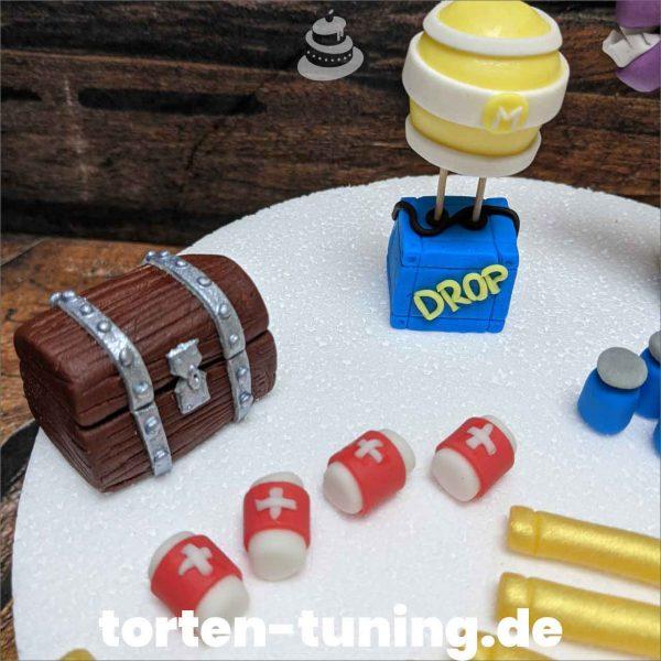 Fortnite Drop Box modellierte Figur Fondantfigur Tortenfigur Torte Torten Tuning Geburtstagstorte Suhl Hochzeitstorte Kindertorten Babytorten Fondant online