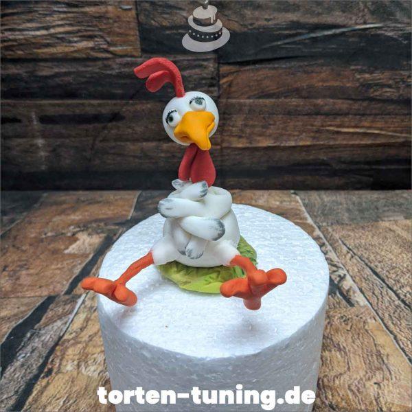 Gockelhahn Tortenfigur Gockelhahn modellierte Figur Fondantfigur Tortenfigur Torte Torten Tuning Geburtstagstorte Suhl Hochzeitstorte Kindertorten Babytorten Fondant online