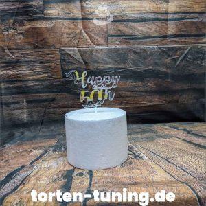 Cake Topper Happy 50th