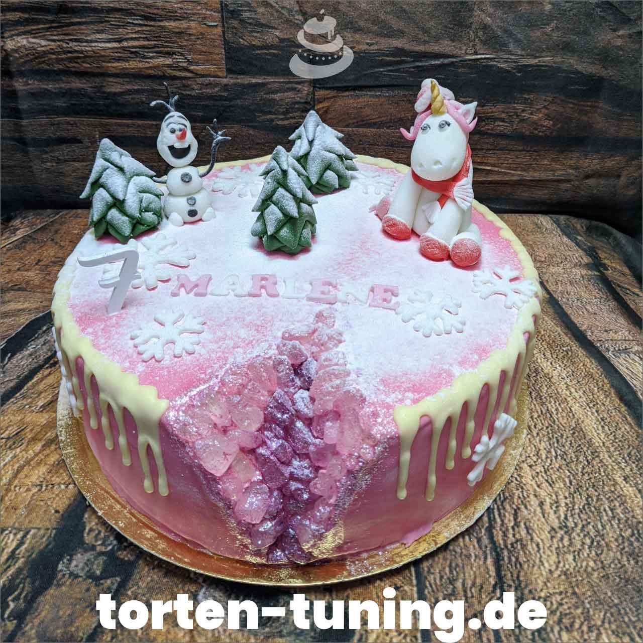 Geode Cake pink Torten Tuning Tortendekoration Geburtstagstorten Suhl Thüringen Backzubehörshop online bestellen Jugendweihe modellierte Figur