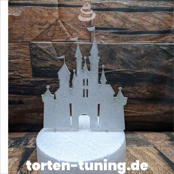 Cake Topper Disney Schloss Glitzer