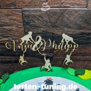 Cake Topper Namen Affen