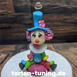 Clown Tortenfigur