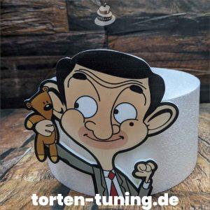Lebensmitteldruck Mr Bean auf Fondant modellierte Figur Fondantfigur Tortenfigur Torte Torten Tuning Geburtstagstorte Suhl Hochzeitstorte Kindertorten Babytorten Fondant online