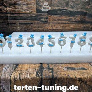 Fondantzahlen blaue Schleife modellierte Figur Fondantfigur Tortenfigur Torte Torten Tuning Geburtstagstorte Suhl Hochzeitstorte Kindertorten Babytorten Fondant online