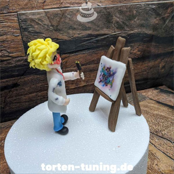 Künstlerin Staffelei modellierte Figur Fondantfigur Tortenfigur Torte Torten Tuning Geburtstagstorte Suhl Hochzeitstorte Kindertorten Babytorten Fondant online