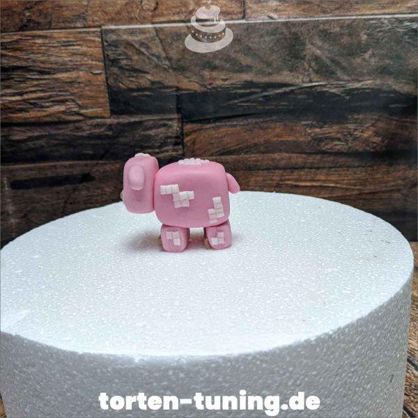 Minecraft PS4 Schwein modellierte Figur Fondantfigur Tortenfigur Torte Torten Tuning Geburtstagstorte Suhl Hochzeitstorte Kindertorten Babytorten Fondant online