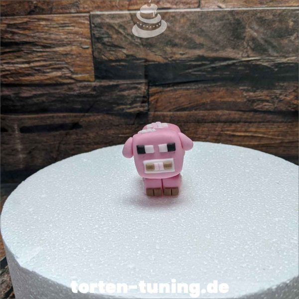 Minecraft Schwein Deko modellierte Figur Fondantfigur Tortenfigur Torte Torten Tuning Geburtstagstorte Suhl Hochzeitstorte Kindertorten Babytorten Fondant online