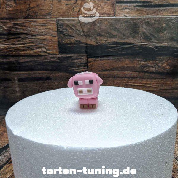 Minecraft Schwein modellierte Figur Fondantfigur Tortenfigur Torte Torten Tuning Geburtstagstorte Suhl Hochzeitstorte Kindertorten Babytorten Fondant online