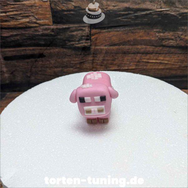 Schwein Minecraft modellierte Figur Fondantfigur Tortenfigur Torte Torten Tuning Geburtstagstorte Suhl Hochzeitstorte Kindertorten Babytorten Fondant online