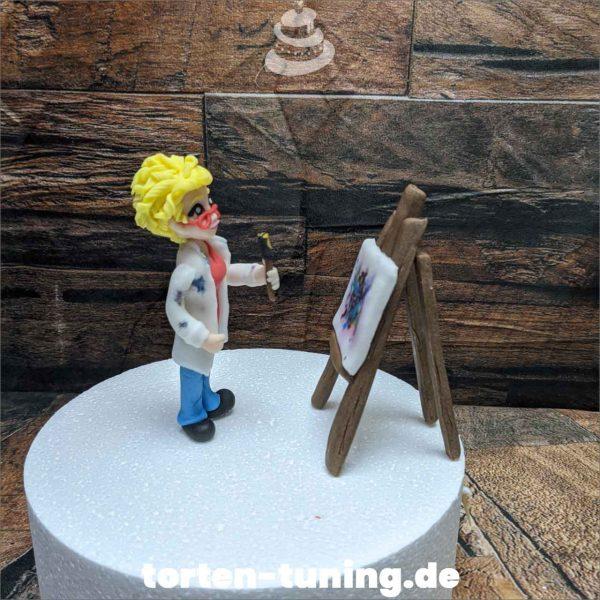 Staffelei Künstlerin modellierte Figur Fondantfigur Tortenfigur Torte Torten Tuning Geburtstagstorte Suhl Hochzeitstorte Kindertorten Babytorten Fondant online