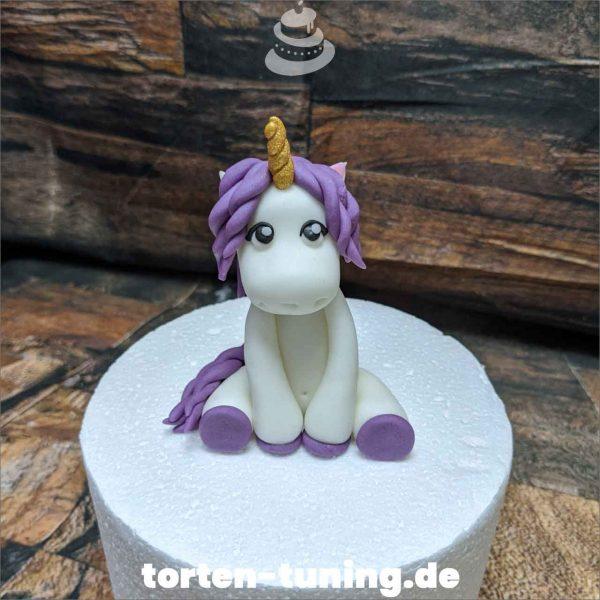 lila Einhorn Tortenfigur