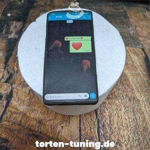 Tortendekoration Handy mit Whatsapp