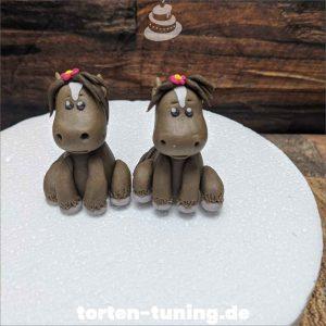 Mini Pferdchen Tortenfigur