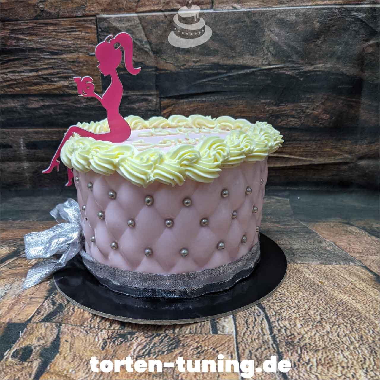16. Geburtstag Steppmuster Dripcake Obsttorte Geburtstagstorte Motivtorte Torte Tortendekoration Torte online bestellen Suhl Thüringen Torten Tuning Sahnetorte Tortenfiguren Cake Topper