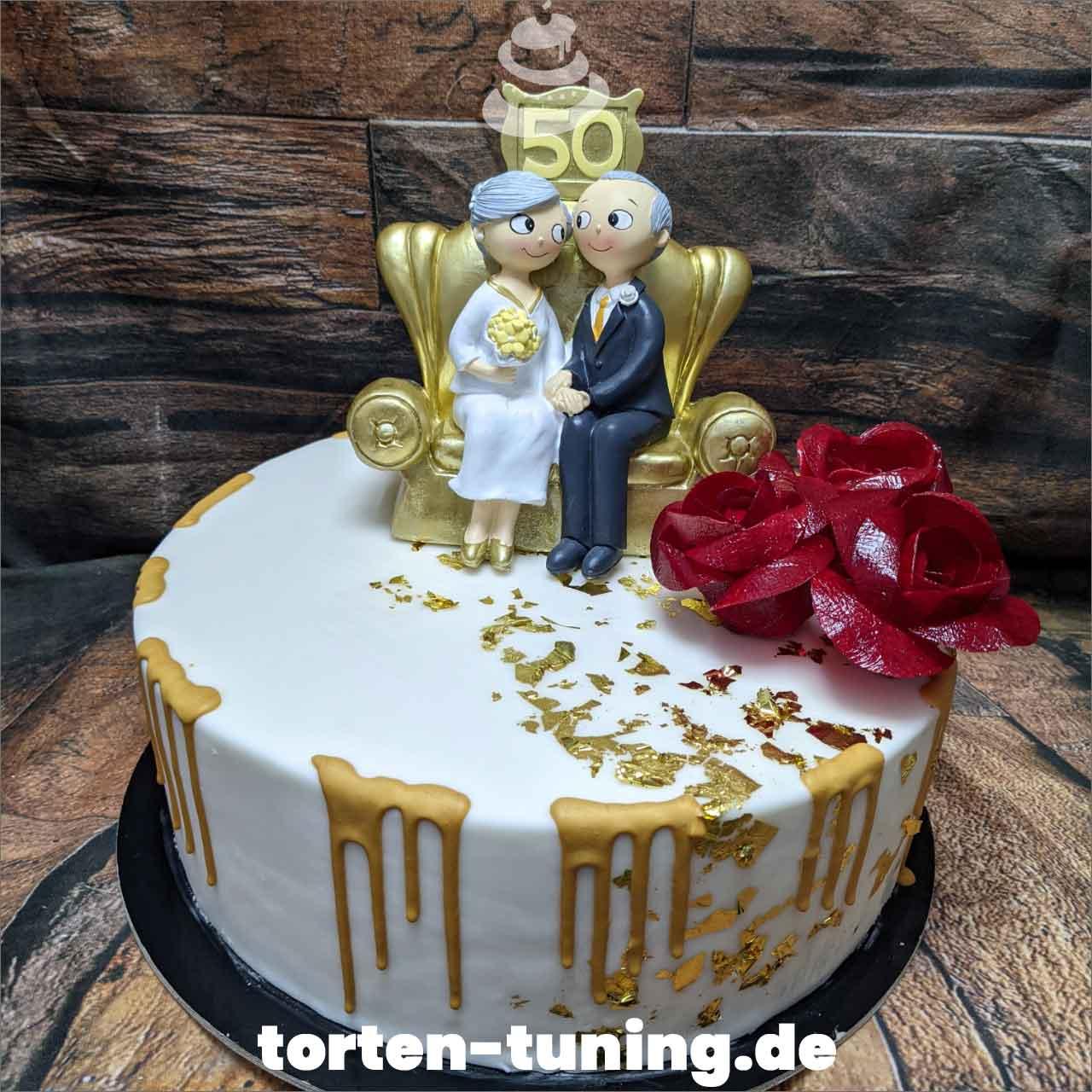 50. Hochzeitstag Dripcake Obsttorte Geburtstagstorte Motivtorte Torte Tortendekoration Torte online bestellen Suhl Thüringen Torten Tuning Sahnetorte Tortenfiguren Cake Topper