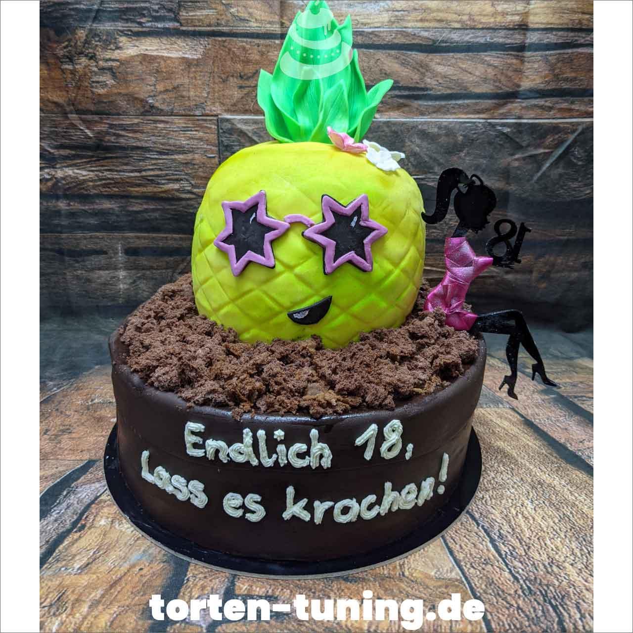 Ananas Dripcake Obsttorte Geburtstagstorte Motivtorte Torte Tortendekoration Torte online bestellen Suhl Thüringen Torten Tuning Sahnetorte Tortenfiguren Cake Topper