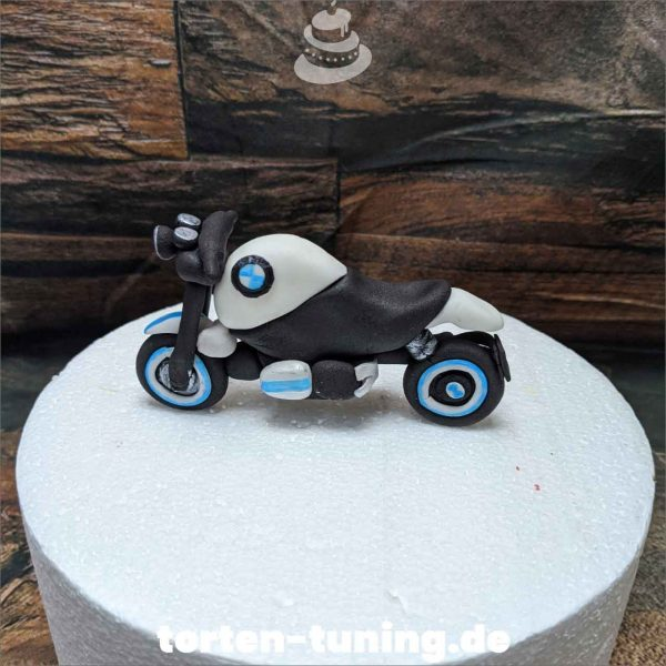 BMW Motorrad Tortendekoration online bestellen Fondantfiguren modellierte essbare Figuren aus Fondant Backzubehör Tortenfiguren Tortenfigur individuelle Tortendeko