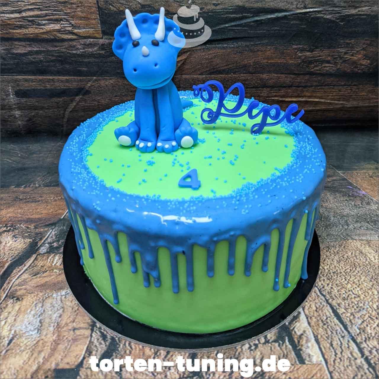 Dino niedlich Dripcake Obsttorte Geburtstagstorte Motivtorte Torte Tortendekoration Torte online bestellen Suhl Thüringen Torten Tuning Sahnetorte Tortenfiguren Cake Topper