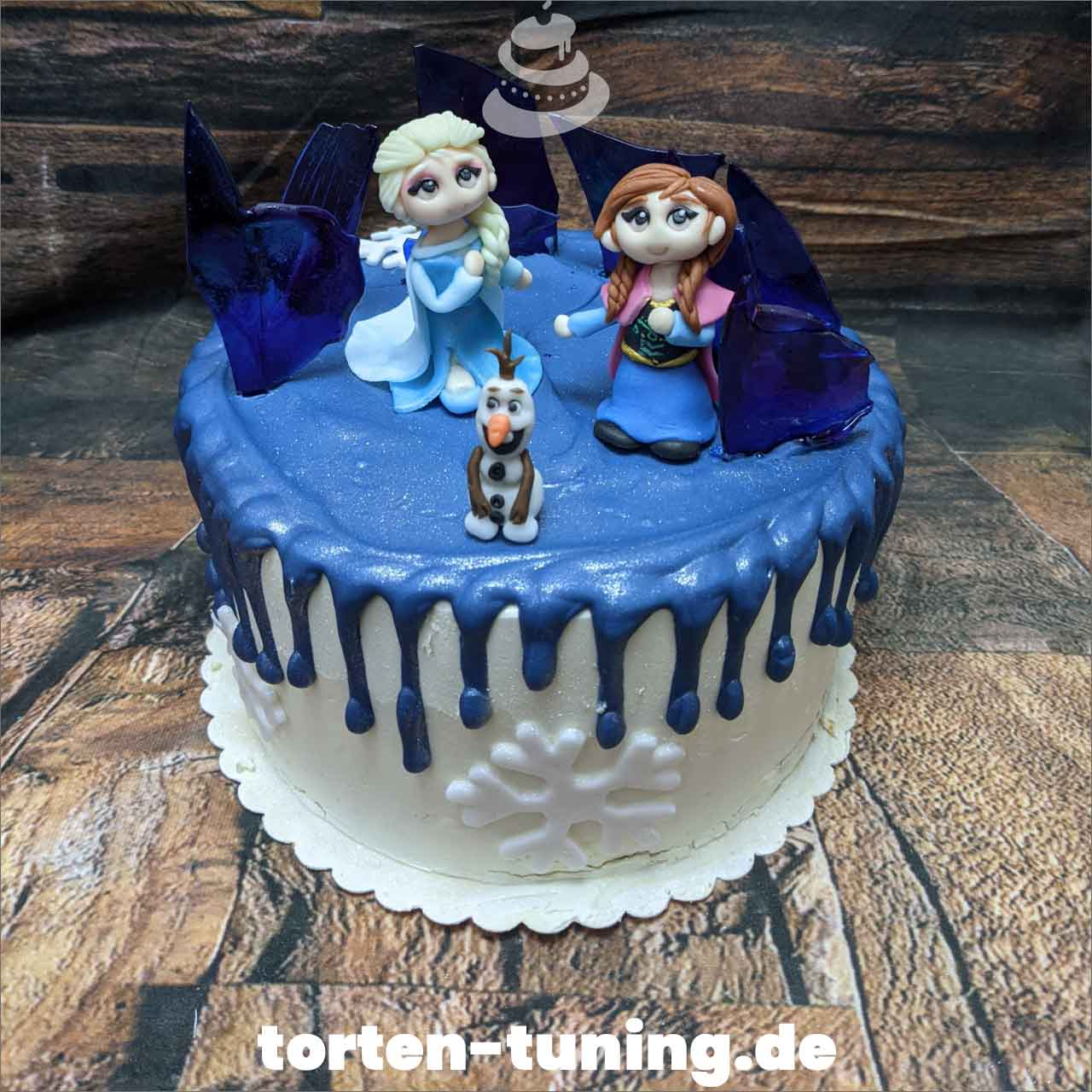 Frozen Anna Elsa Olaf Dripcake Obsttorte Geburtstagstorte Motivtorte Torte Tortendekoration Torte online bestellen Suhl Thüringen Torten Tuning Sahnetorte Tortenfiguren Cake Topper