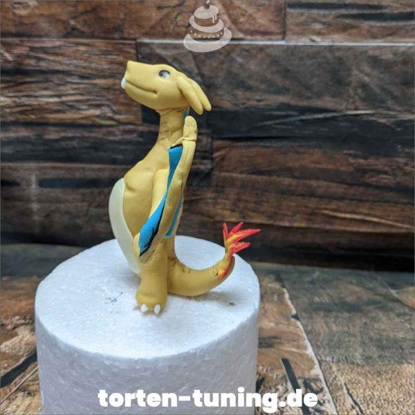 Glurak Pokemon Tortendekoration online bestellen Fondantfiguren modellierte essbare Figuren aus Fondant Backzubehör Tortenfiguren Tortenfigur individuelle Tortendeko